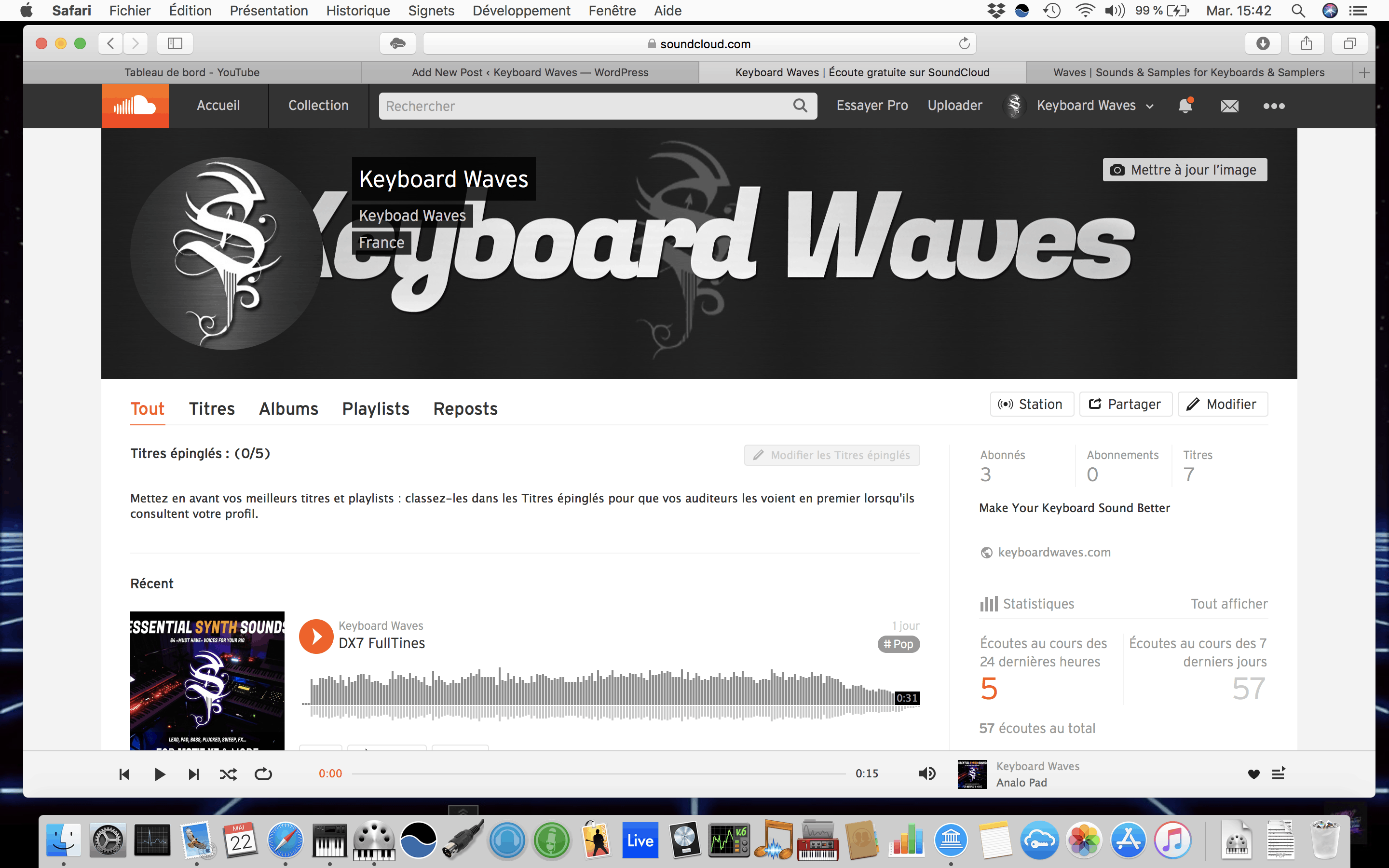 Keyboard Waves On SoundCloud